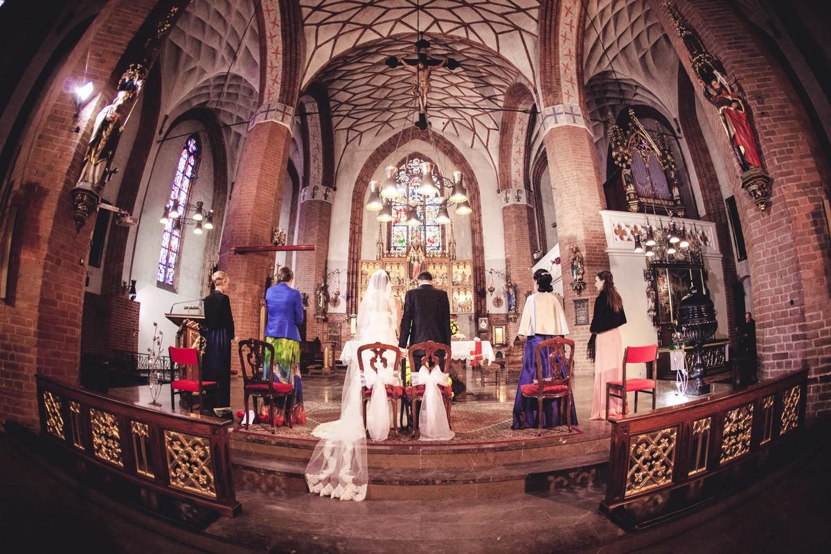 ślub w katedrze w Olsztynie