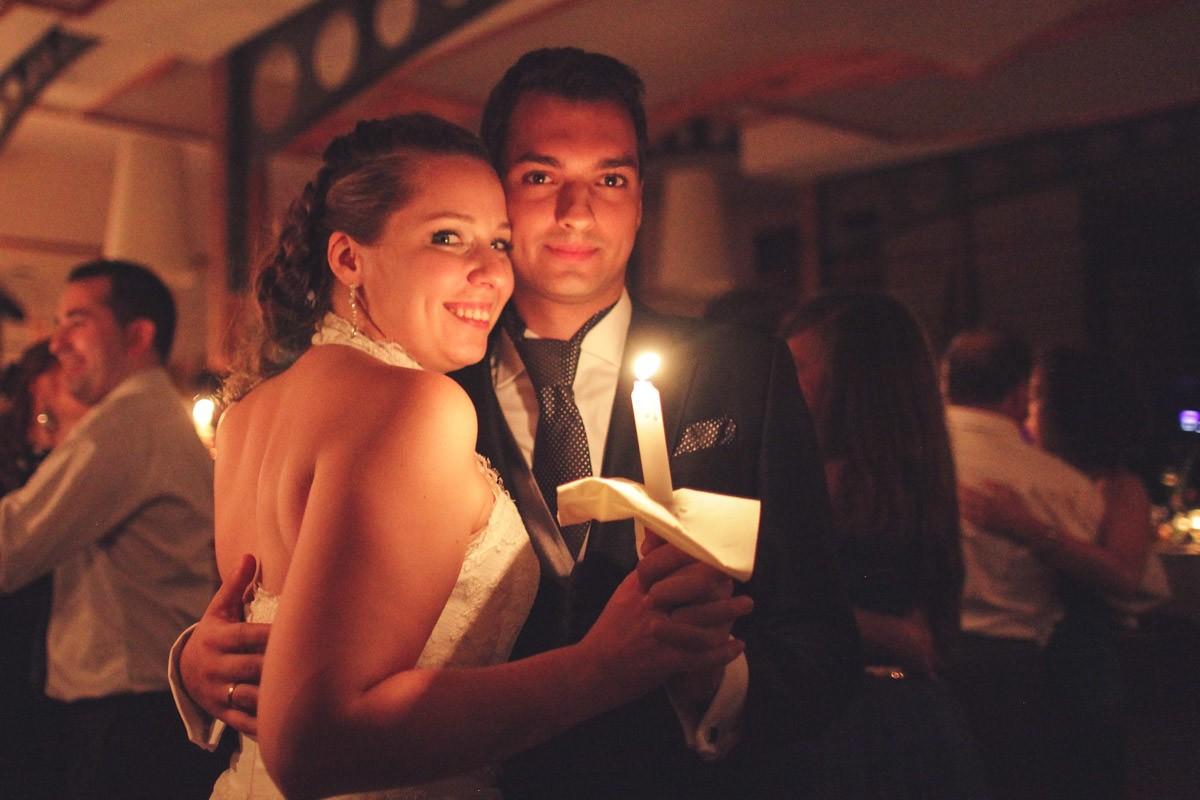 wesele taniec ze świecami