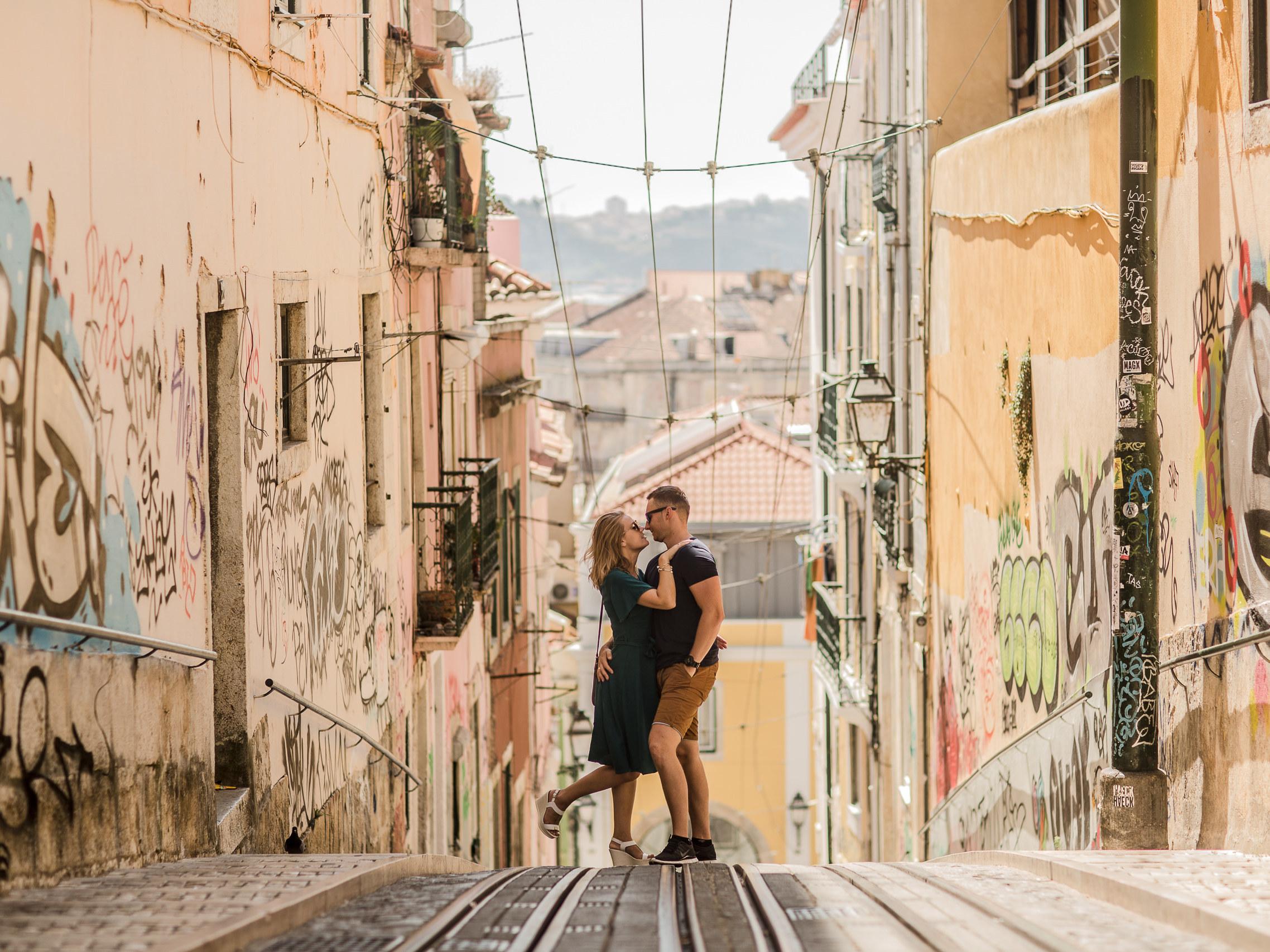 sesja narzeczeńska za granicą Lizbona
